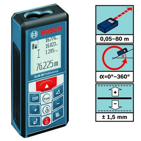 Лазерний далекомір Bosch GLM 80 (0 601 072 300) Прев'ю 2