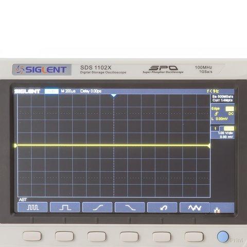 Фосфорний цифровий осцилограф SIGLENT SDS1102X Прев'ю 4