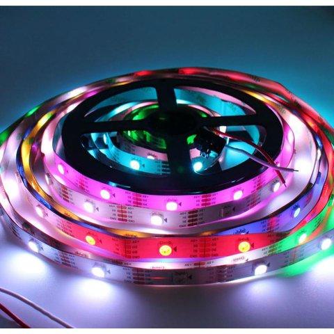 Світлодіодна стрічка RGB SMD5050, WS2813 (біла, з управлінням, IP20, 5 В, 30 діодів/м, 5 м) Прев'ю 3