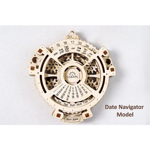 Mechanical 3D Puzzle UGEARS Date Navigator - /*Photo|product*/