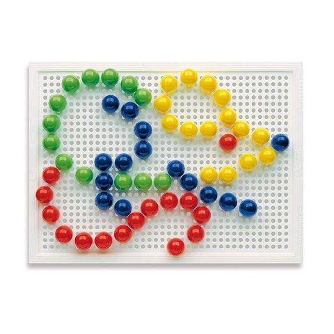 Набір для занять мозаїкою Quercetti (фішки 15 мм (60 шт.) + дошка 22×16) Прев'ю 2